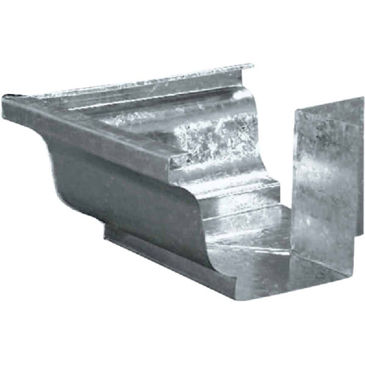 Amerimax 5 In. Galvanized Mitre Gutter Outside Corner