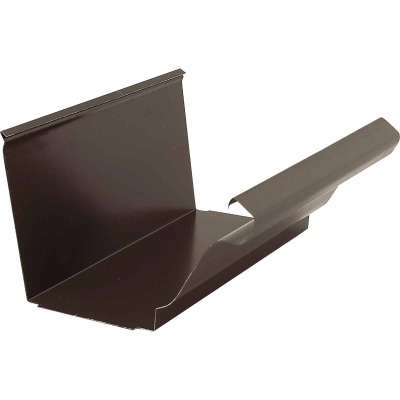 NorWesco 4 In. Galvanized Brown Slip-Joint Gutter Connector