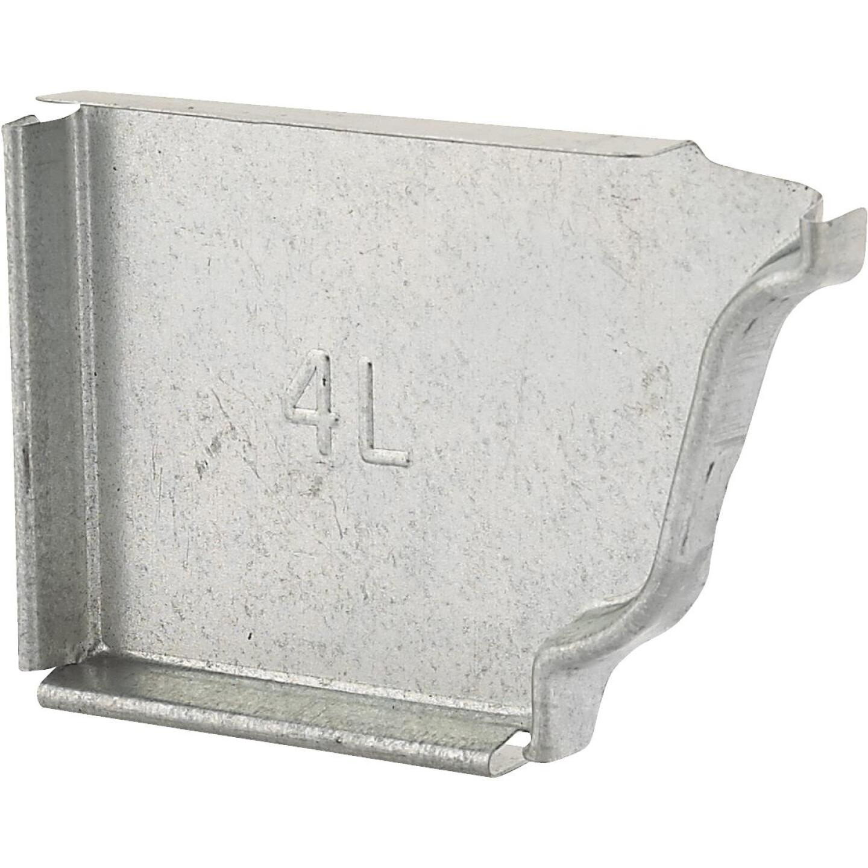 NorWesco 4 In. Galvanized Left Gutter End Cap Image 1