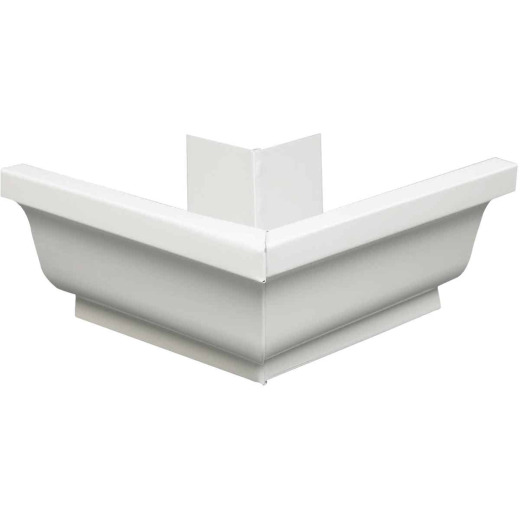 Amerimax 4 In. Galvanized White Mitre Gutter Outside Corner