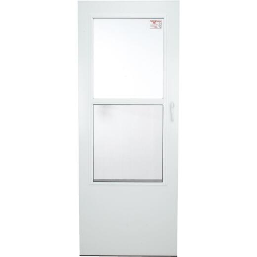 Larson Value-Core 32 In. W. x 80 In. H. x 1 In. Thick White Self-Storing Aluminum Storm Door