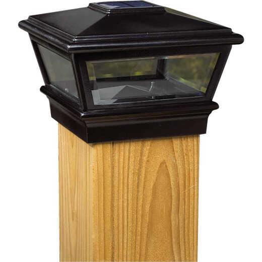 Deckorators Versacap 6 In. x 6 In. Black Solar Post Cap