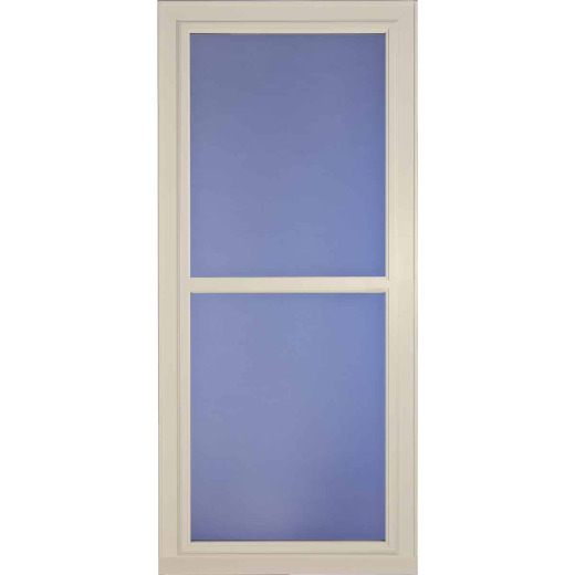 Larson Easy Vent 146 Series 36 In. W x 81 In. H x 1-7/8 In. Thick Almond Full View Aluminum Storm Door