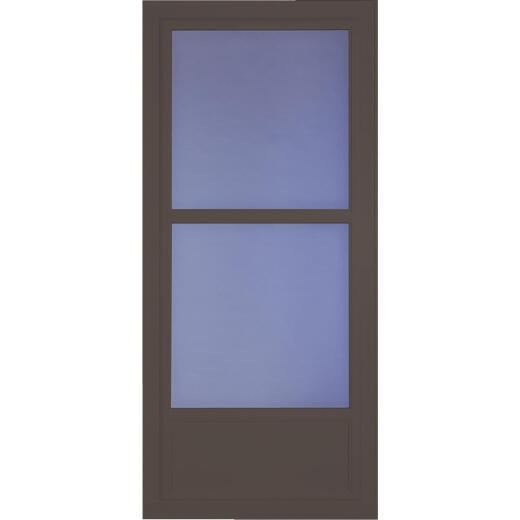 Larson Easy Vent 146 Series 36 In. W. x 81 In. H. x 1-7/8 In. Thick Brown Mid View Aluminum Storm Door
