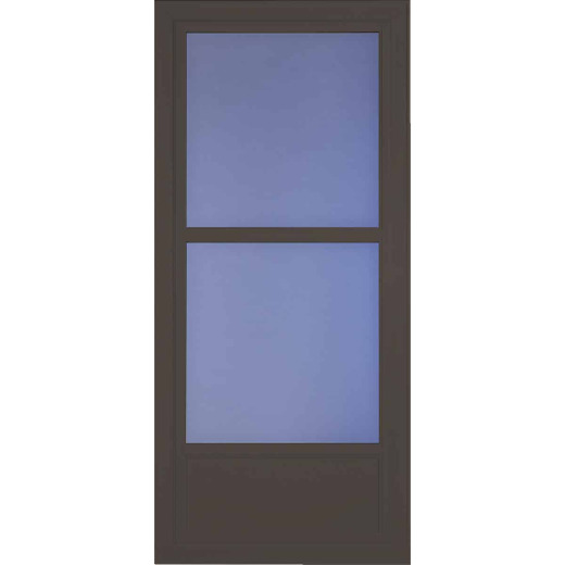 Larson Easy Vent 146 Series 36 In. W x 81 In. H x 1-7/8 In. Thick Brown Mid View Aluminum Storm Door