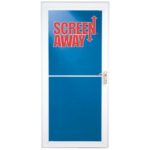 Larson Screenaway Lifestyle 32 In. W. x 81 In. H. x 1-3/8 In. Thick White Full View Aluminum Storm Door