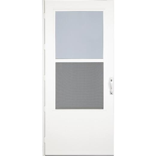 Larson Life-Core DuraTech 32 In. W. x 80 In. H. x 1 In. Thick White Self-Storing Storm Door