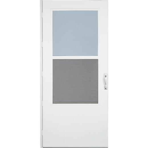 Larson Life-Core DuraTech 36 In. W. x 80 In. H. x 1 In. Thick White Self-Storing Storm Door