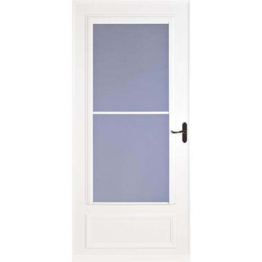 Larson Screenaway Lifestyle 32 In. W. x 81 In. H. x 1 In. Thick White Mid View DuraTech Storm Door