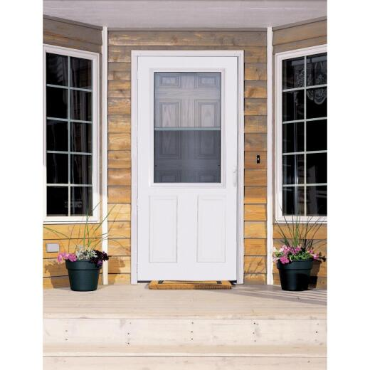 Larson Lifestyle MULTI-VENT 36 In. W. x 80 In. H. x 1 In. Thick White Mid View 2-Panel DuraTech Storm Door