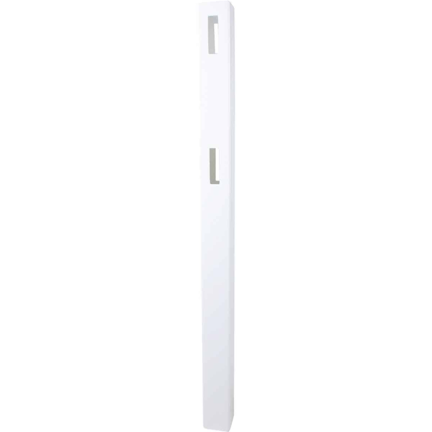 Outdoor Essentials 5 In. x 5 In. x 60 In. White Line 2-Rail Fence Vinyl Post Image 5