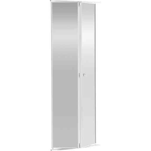 Colonial Elegance 24 In. H x 80-1/2 In. H White Framed Mirrored Bifold Door