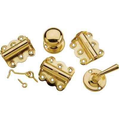 National Brass 3-Hinge Screen Door Kit