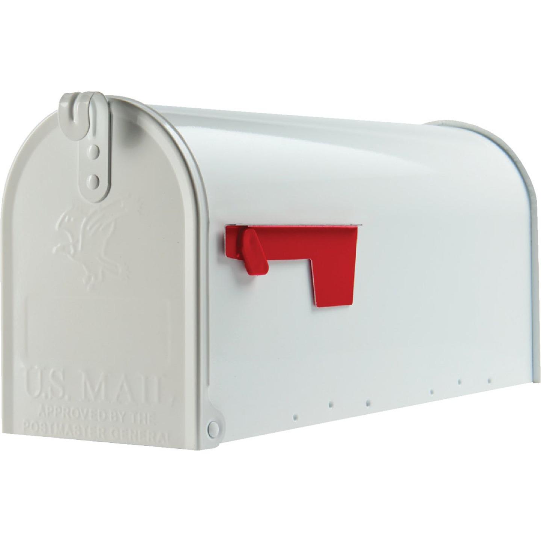 Gibraltar Elite T1 White Steel Rural Post Mount Mailbox Image 2