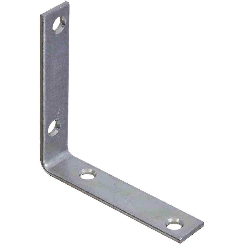 National Catalog V115 3-1/2 In. x 3/4 In. Zinc Steel Corner Brace (4-Count) Image 1