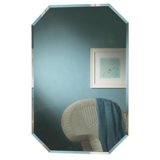 Zenith Frameless Beveled 16 In. W x 24 In. H x 4-1/2 In. D Single Mirror Surface/Recess Mount Octagon Medicine Cabinet