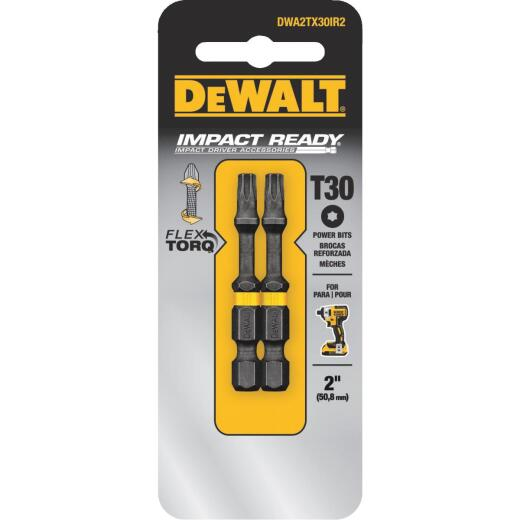 DeWalt FlexTorq 2 In. T30 TORX Power Impact Screwdriver Bit (2-Pack)