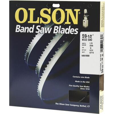 Olson 59-1/2 In. x 1/8 In. 14 TPI Hook Wood Cutting Band Saw Blade