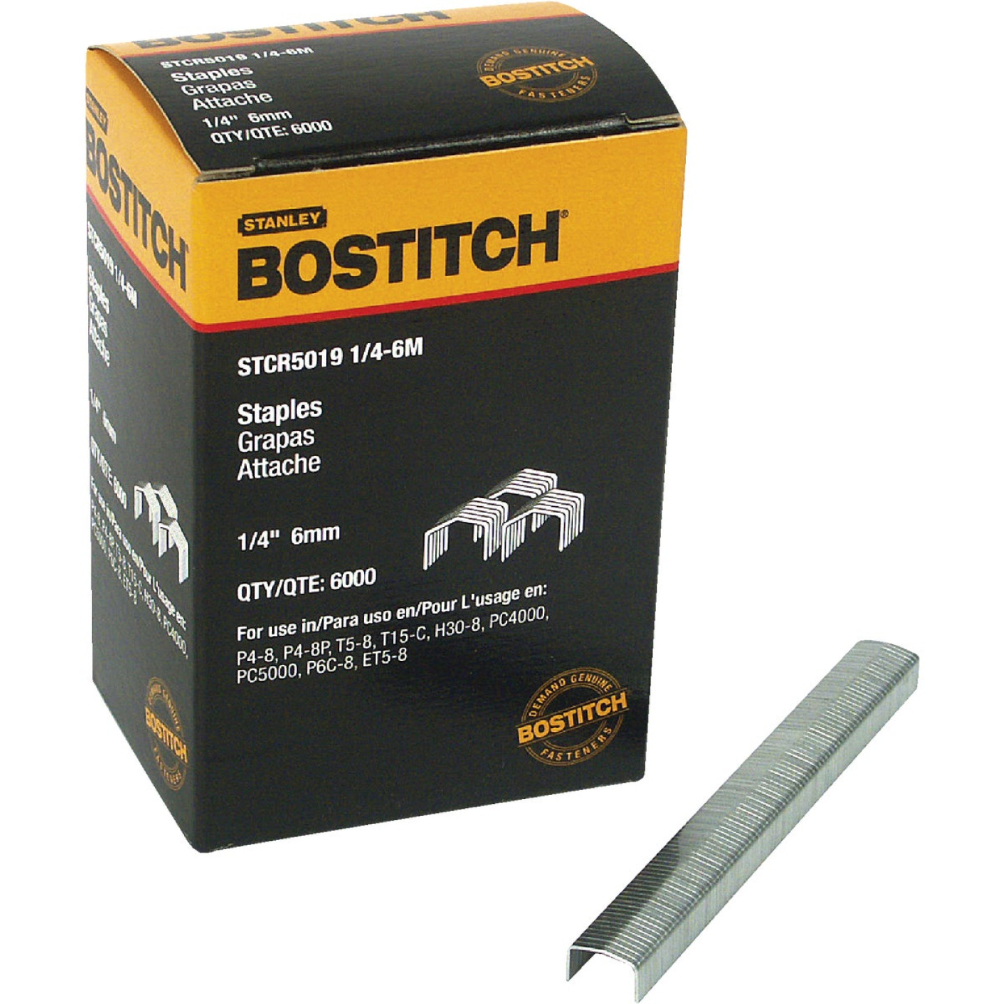 Bostitch Powercrown Hammer Tacker Staple, 1/4 In. (6000-Pack) Image 1