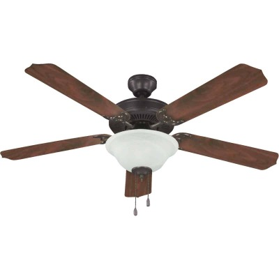 Home Impressions Baylor 52 In. Oil Rubbed Bronze Ceiling Fan with Light Kit