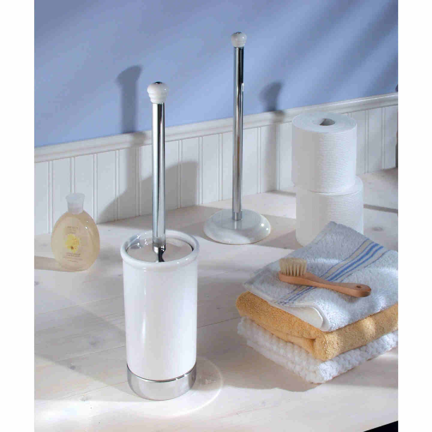 InterDesign York 17.5 In. Toilet Bowl Brush With Caddy Image 2