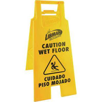 Libman 2-Sided Caution Wet Floor Sign