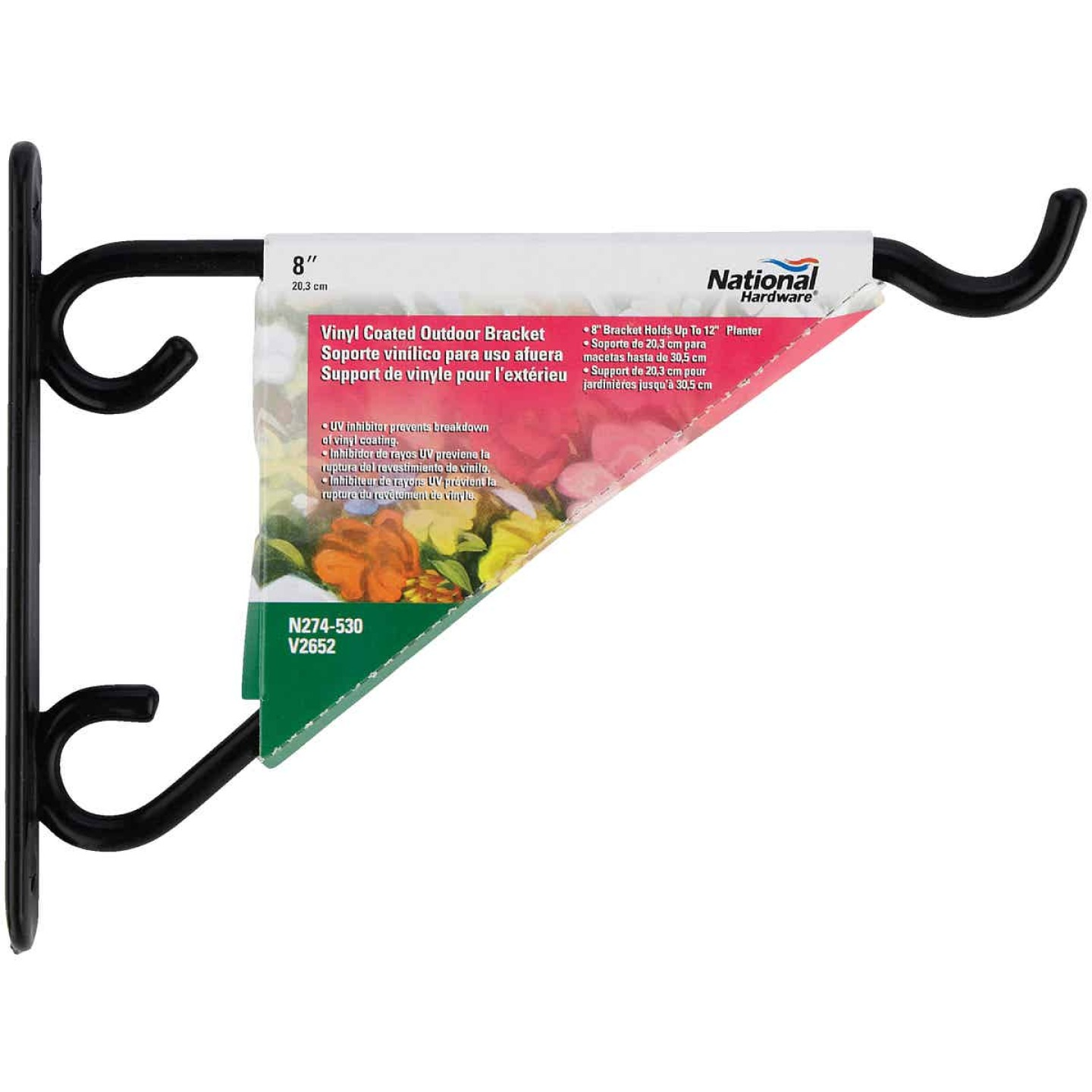 National 8 In. Black Vinyl-Coated Steel Plant Hanger Bracket Image 2
